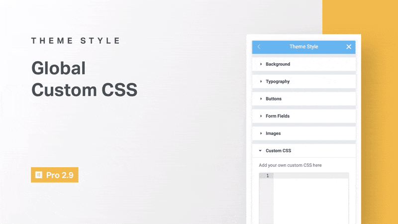 elementor custom CSS rules