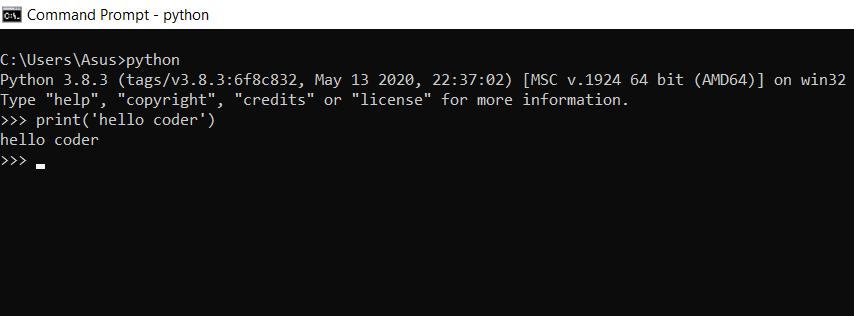 Install Python on Linux , cmd python code